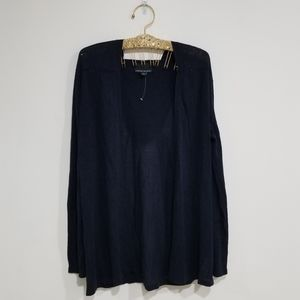 Cynthia Rowley Navy Blue Hooded Cardigan